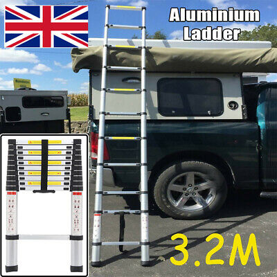 3.2m Portable Heavy Duty Multi-Purpose Aluminium Telescopic Ladder Extendable