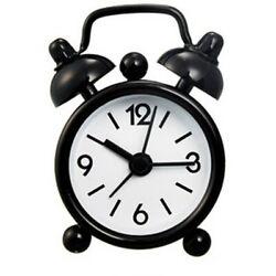 4cm Mini Mechanical Bell Vintage Alarm Clock Desktop Table Home Bedside Decor
