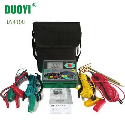 Dy4100 Earth Ground Resistance Testerdigital Lcd Display Meter Resistance Tool