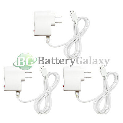 3 HOT! Rapid Micro USB Battery Home Wall Travel Charger For Android Cell Phone