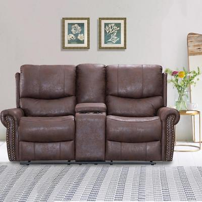 Recliner Sofa Love Seat Reclining Couch Leather Loveseat Hom