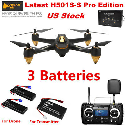 Hubsan X4 H501S Pro FPV Drone Brushless 1080P RC Quadcopter Follow Me GPS RTF US