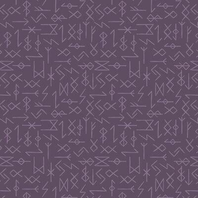 Lewis and Irene Viking Adventure Runes on Purple - Per 1/4 Metre
