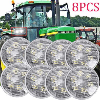 8x Round Led Work Light For John Deere Standard-tread Tractors 5010 5020 6030