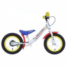 "Wizzer Kids 12"" Balance Bike, Ages 3 - 5 Years, Adjustable Seat & Handlebars - 42013"