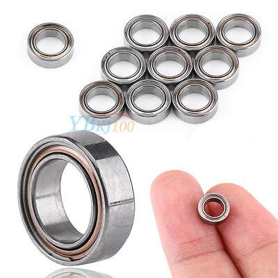 10x Mr65zz Miniature Deep Groove Ball Bearing Double Shielded Bearings 5x8x2.5mm