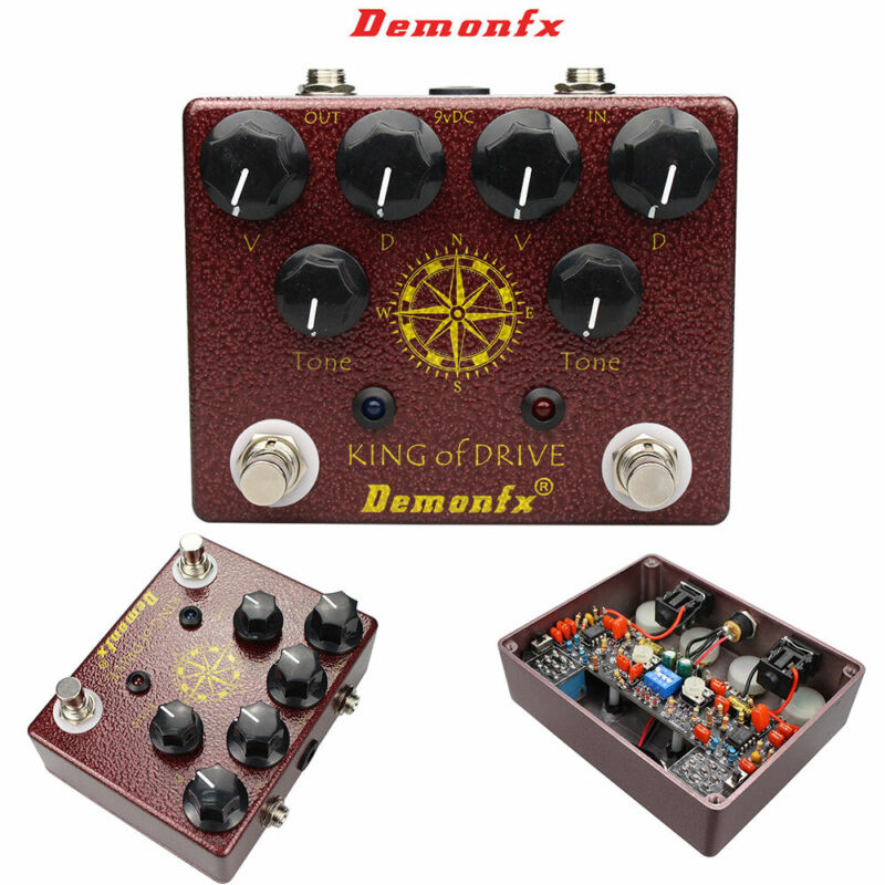Demonfx King Overdrive  Guitar King Distortion Effect Pedal (clone of kot tone)