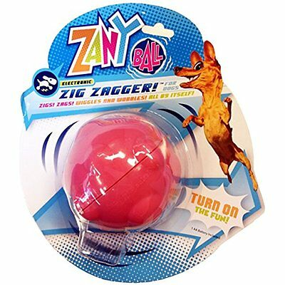 Electronic Pet Dog Toy Zany Bunch Zany Ball Wiggle Twists and Jiggles by Itself