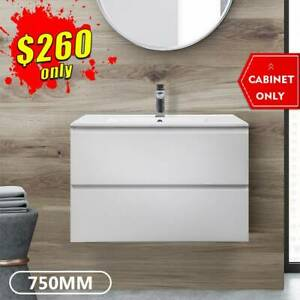 *CLEARANCE* 750mm Vanity Wall Hung Bathroom Cabinet 2pack Mia