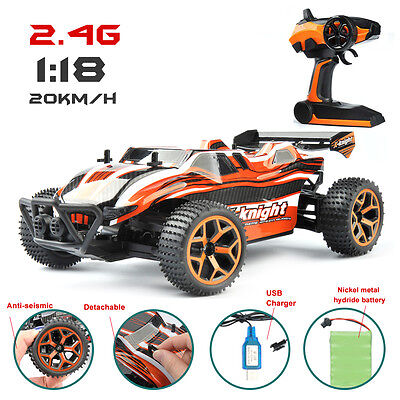 (1/18 High Speed RC Racing Car 4WD Remote Control Truck Off-Road Buggy SUV Models)