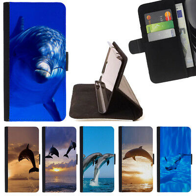 DOLPHIN ANIMAL SEA WALLET CASE COVER FOR SAMSUNG GALAXY S7 EDGE