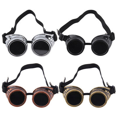 Deluxe Steampunk Goggles Smoked Lens Eyewear Industrial Aviator Pilot - Aviator Goggles Costume