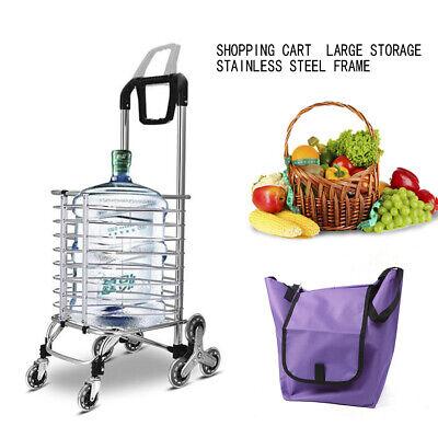 Folding Shopping Cart Jumbo Basket Grocery Utility Laundry Travel W8 Wheels