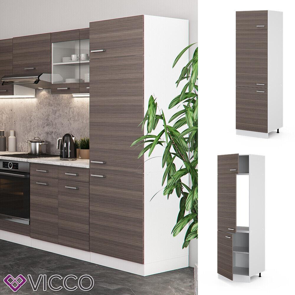 VICCO Küchenschrank Hängeschrank Unterschrank Küchenzeile R-Line Kühlumbauschrank 60 cm edelgrau