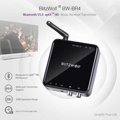 BlitzWolf BW-BR4 bluetooth V5.0 Audio Receiver Transmitter aptX Music TV