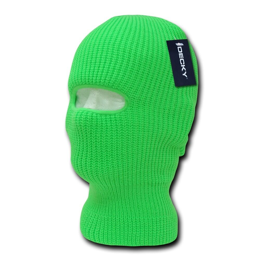 Youth Kids Girls Boys Balaclava Beanies Neon Fluorescent Ski Eye Hole Face Mask
