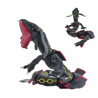 "Pokemon Center Plush Doll Black Mega Rayquaza Stuffed Toy 32"" Long US ship"
