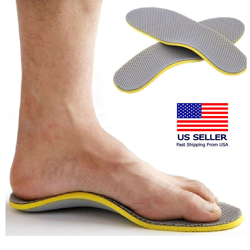 Comfort Orthotic Arch Support Shoes Insoles Pads Cushion Pai