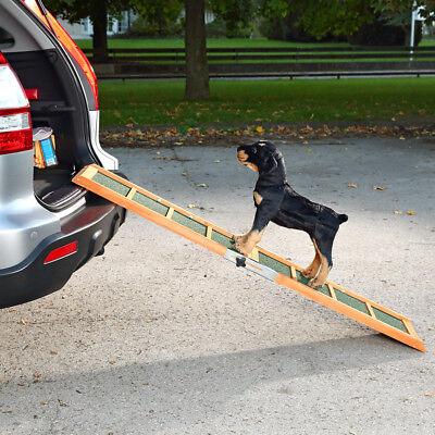 Tragbare Rampe (Hunderampe Hunde Rampe Auto Teleskop Einstiegshilfe Hund  Hundetreppe)