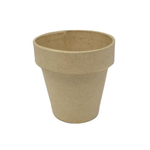 Mini Paper Mache Clay Pot, Natural, 3-1/8-Inch