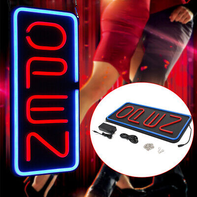 23.6x11.8 Vertical Store Open Sign Led Light Open Neon Business Bar Sign