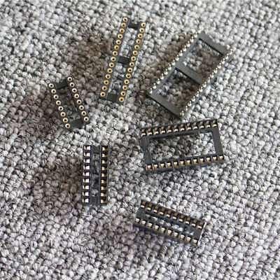 20pcs100pcs Ic Socket Dip 6pin-40pin Integrated Circuit Adaptor Solder Type