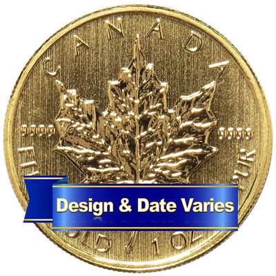 Купить $50 Gold Canadian Maple Leaf  .9999 1 oz Random Year Brilliant Uncirculated