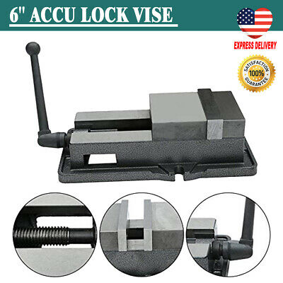 6 Lock Down Vise Precision Milling Vice With 6 Inch Jaw Width Accu Drill Us