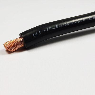 25mm2 Black Flexible PVC Battery Welding Cable 170 A Amps 1M 1 M Length Car Auto
