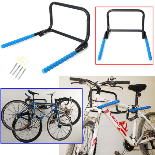 heavy duty 2 bike storage hook wall mounted bracket rack bicycle mtb garage shed. Black Bedroom Furniture Sets. Home Design Ideas