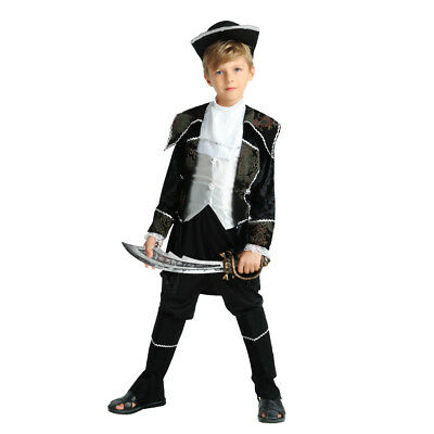 Hot Style Boy's Pirate Dress Up Kids Costume Cosplay Halloween Party Outfit