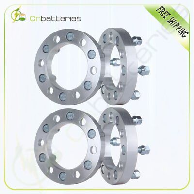 """4X 6x5.5 Wheel Spacers 1"""" 25mm Thick 12x1.25 For 1998-2004 For Nissan Frontier"""