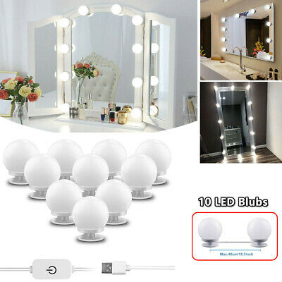 Hollywood estilo LED Vanity espejo luces kit para maquillaje vestir 10 bombillas