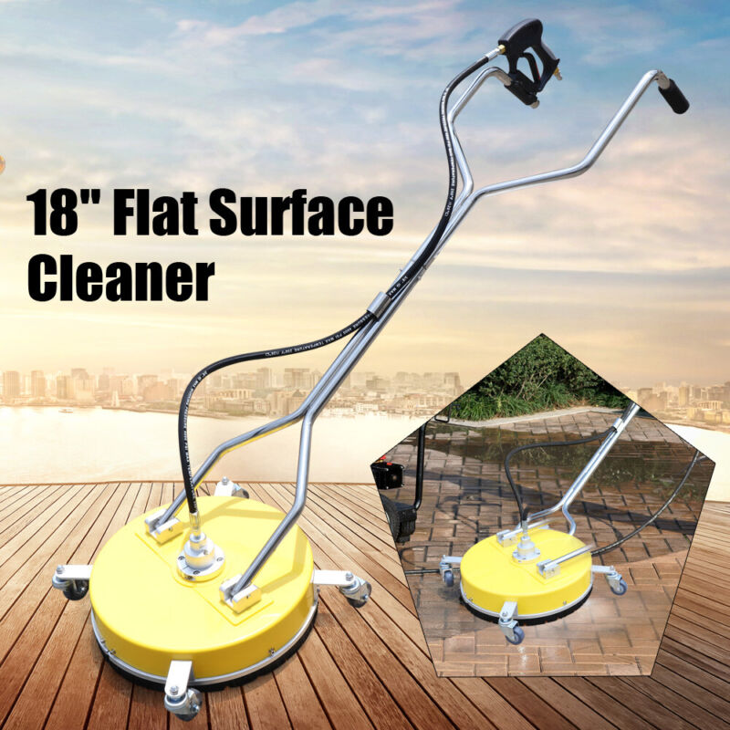 """18"""" Stainless Steel Pressure Washer Flat Surface Cleaner with Wheels 4000PSI"""