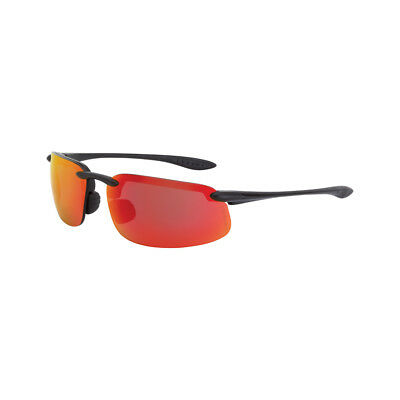 Crossfire Es4 Safety Glasses With Red Mirror Lens And Black Frame