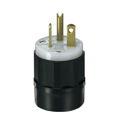 Leviton 20 Amp 3W, 2P NEMA 6-20P Locking Plug 250V 5466-C  Locking Plug 20 Amp
