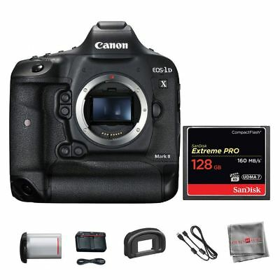Canon Eos 1d Flash Memory - Canon EOS 1D X Mark II DSLR Body + SanDisk 128GB Compact Flash Memory Card