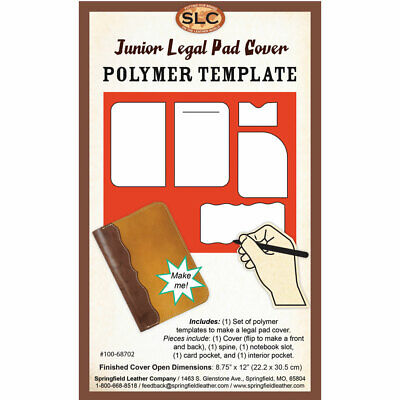 Springfield Leather Company Junior Legal Pad Cover Polymer Template Pattern