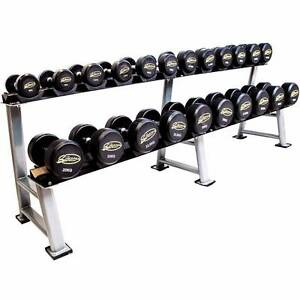 5kg - 40kg Dumbbell Set Commercial Graded Pro Rubber with Rack Maidstone Maribyrnong Area Preview