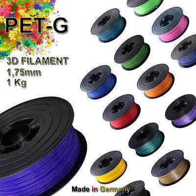 Alle Drucker (PETG Filament Premium PET 1kg 1,75mm 1000g auf Spule  für alle 3D Drucker)