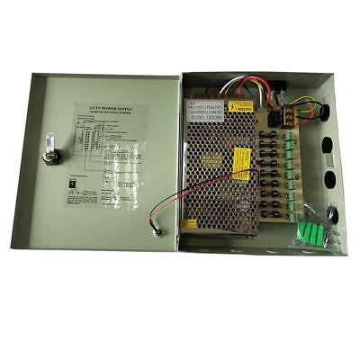 9 Channel 8CH Security Camera Power Supply Box DC 12V 10A CCTV DVR Distribution