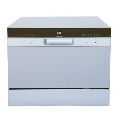 SPT SD-2224DS Countertop Dishwasher with Waiting Start & LED Controls, Silver New