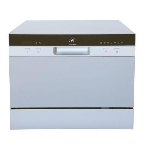 "SPT 22"" Tabletop Portable Dishwasher Silver SD-2224DS"