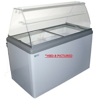 Commercial Ice Cream Dipping Cabinet Wled Hbd-8