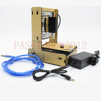 100mw Mini Diy Laser Engraving Machine 3838mm Area Carving Wood Paper Leather