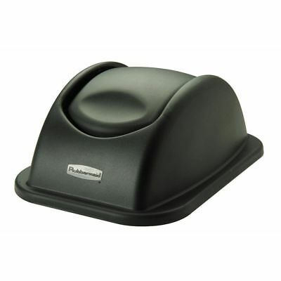 Rubbermaid Black Plastic Swing Top Lid For 28 qt Soft-Side Wastebasket - 15