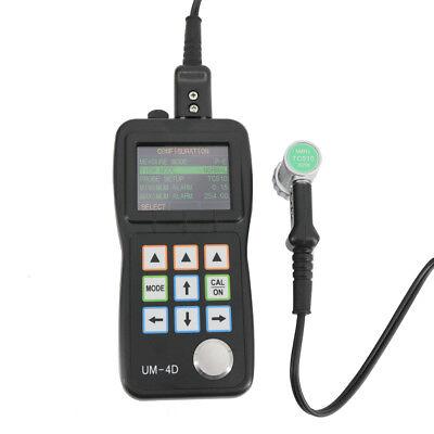 New Um-4d Portable Digital Through Paint Ultrasonic Thickness Meter Gauge A-scan
