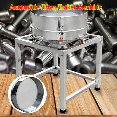 Electric Stainless Steel Vibrating Sieve Machine Automatic Sifter Shaker 19.6