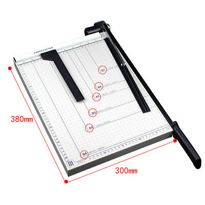 Heavy Duty Paper Cutter 15x12metal Base Trimmers Scrapbooking Guillotine Blade