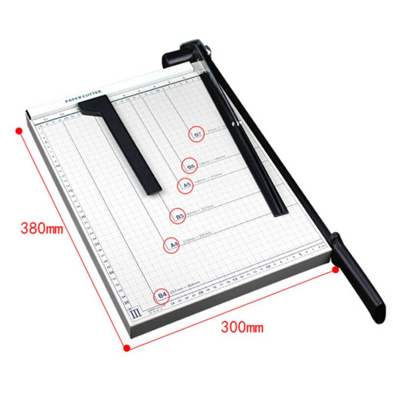 """Heavy Duty Paper Cutter 15""""x12""""Metal Base Trimmers Scrapbooking Guillotine Blade"""